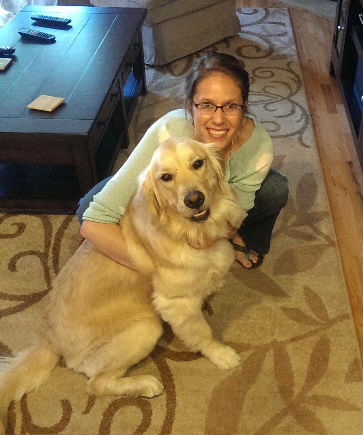 Alex Linares with dog