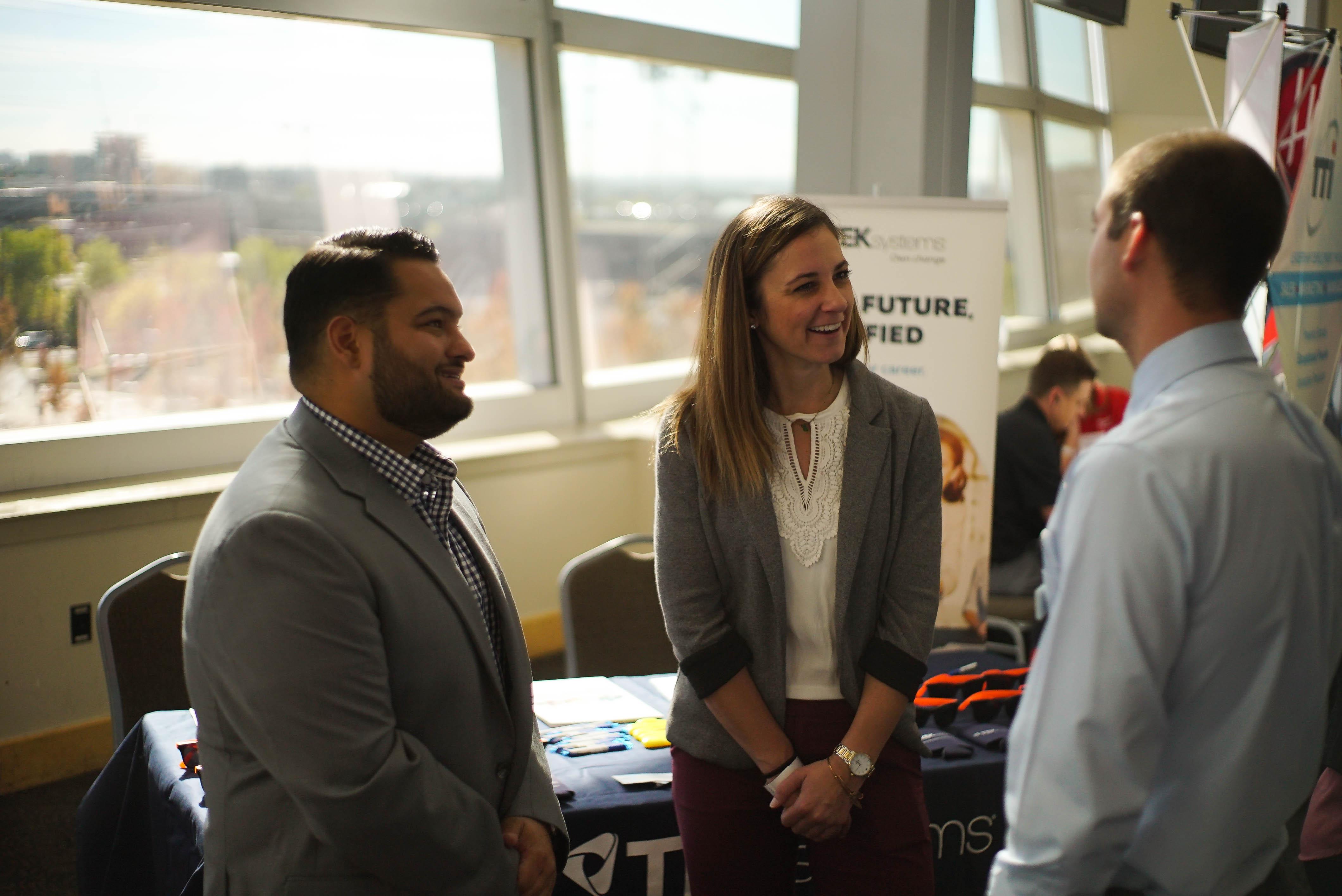 recruiters at career fair