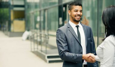 DFEI ethics onsite student handshake