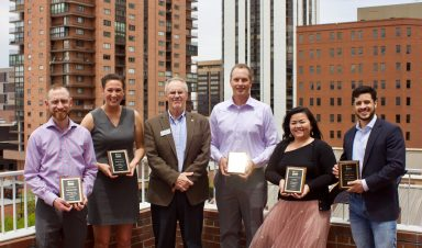 Outstanding Student Award Winners with Interim Dean Gary Colbert