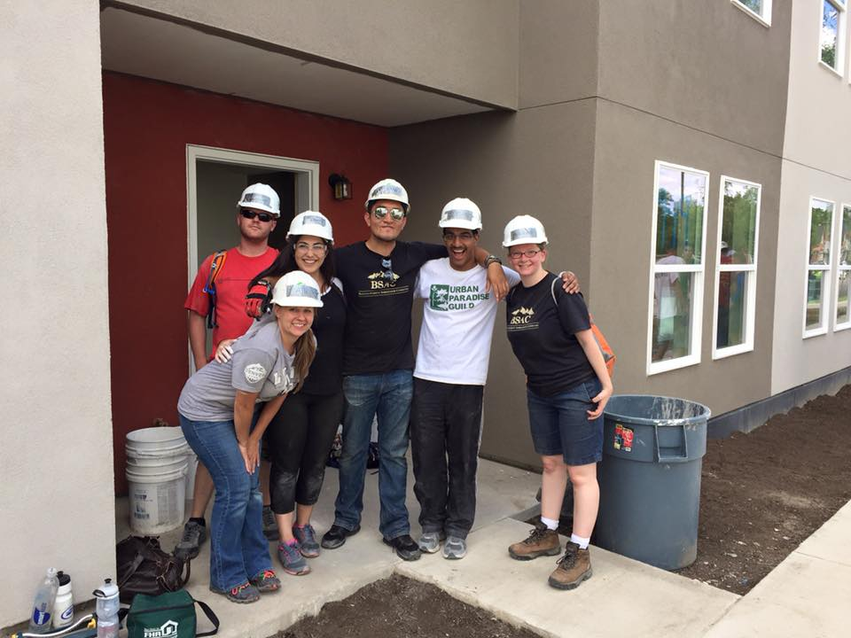 Allison volunteering with BSAC for a Habitat for Humanity build.