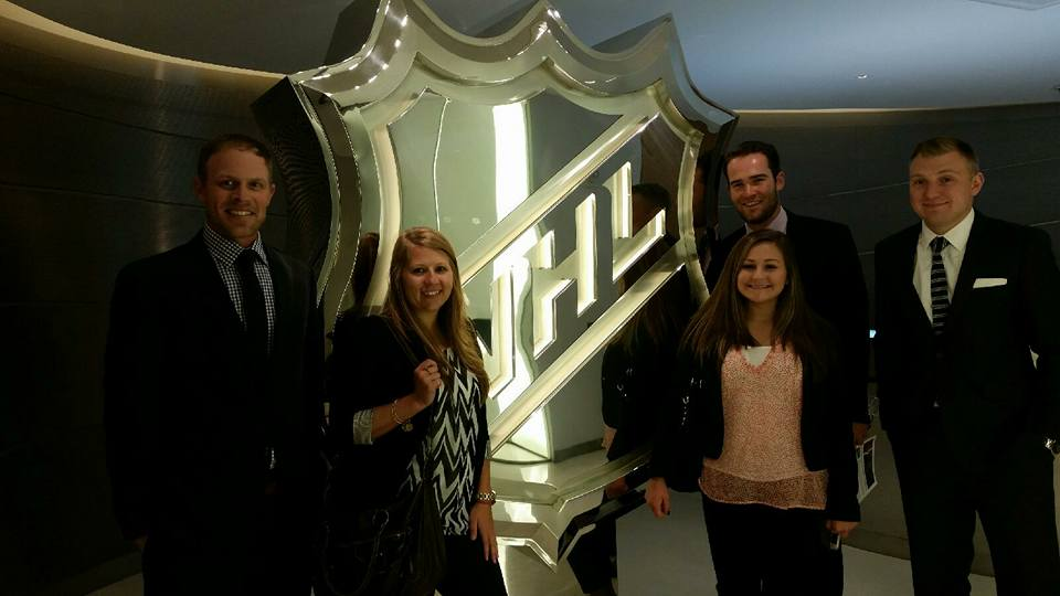 Allison and her classmates in New York City at the NHL headquarters for Ethics OnSite.