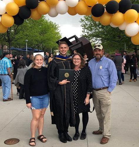 Mason at graduation