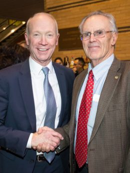 Bob Hottman, 2019 Bill Daniels Leader of the Year, with Gary Colbert, CU Denver Business School Interim Dean, at the 2019 State of Small Business.