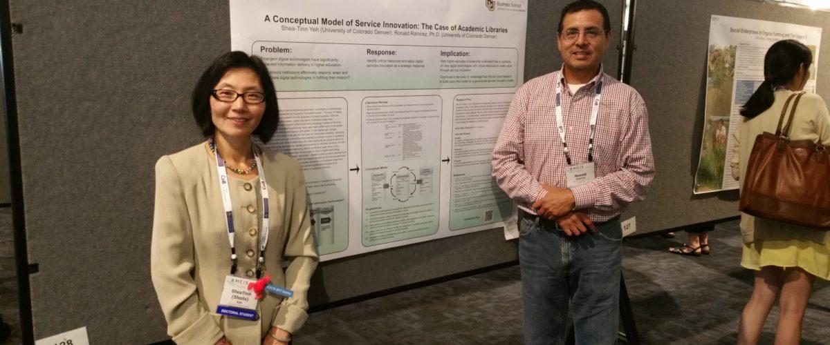 Sheila Yeh and Professor Ronald Ramirez.
